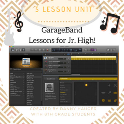 5 Part Unit How to Record Music in Garage Band for Students