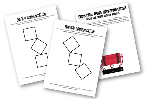 Communication Games- 2 Activities Included- Great for Health Science Classes!