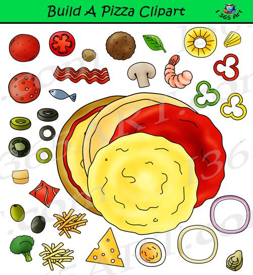 Build A Pizza Clipart Set Download
