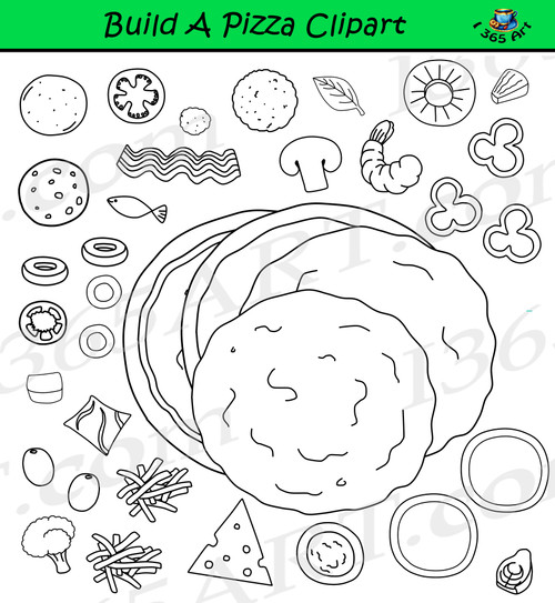 Build A Pizza Clipart Set Download