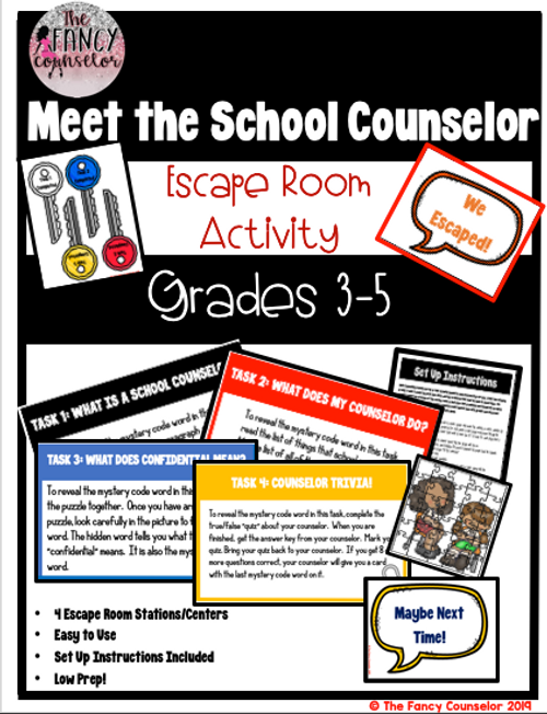 Meet the Counselor Escape Room Introduction Lesson
