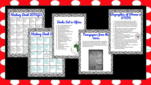 History Book Bingo - Social Studies Reading Challenge with Book Recommendations
