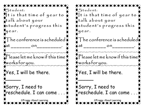 Conference Request (in English and Spanish)