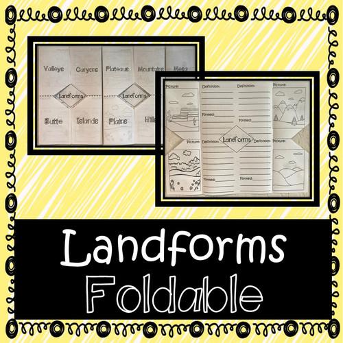 Landforms Foldable