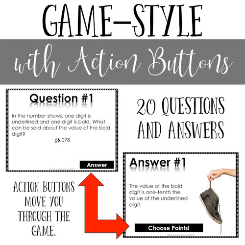 Addition and Subtraction Models and Equations Review Game - Digital Stinky Feet
