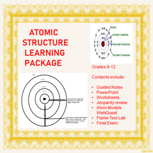 Atomic Structure Learning Activities (Distance Learning)
