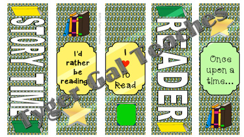 Bookmarks - Green and Gold Theme (Part 2)