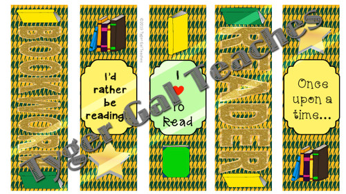 Bookmarks - Green and Gold Theme (Part 1)