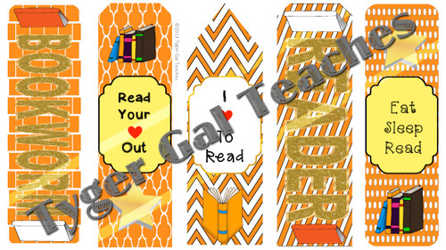 Bookmarks - Orange, White, and Gray Theme