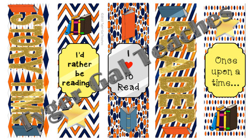 Bookmarks - Orange, Blue, and White