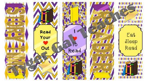 Bookmarks - Purple and Gold Theme