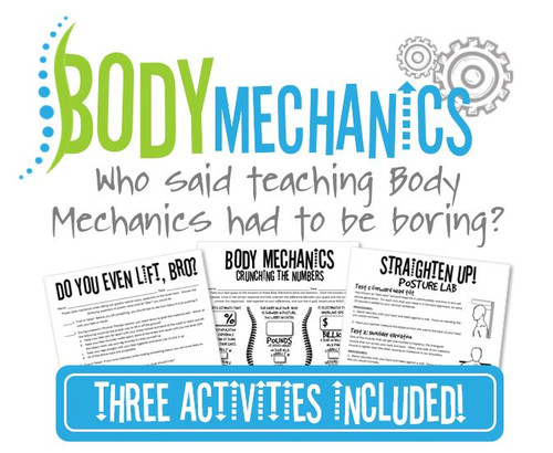 Body Mechanics Bundle- 3 Activities Included! Great for Health Science!