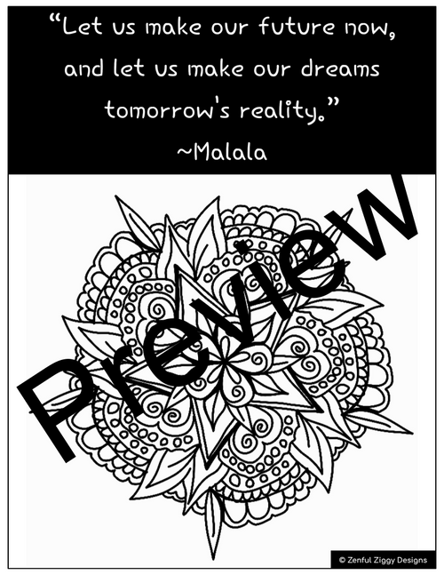 Malala Yousafzai Activity Package- Sketch Notes, Women's ...