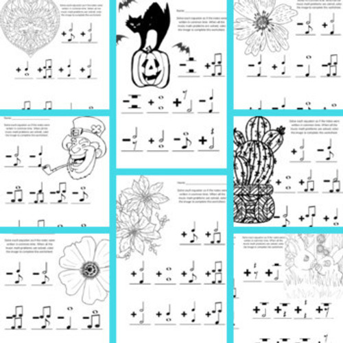 Music Math Activities