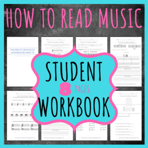 How To Read Music Lesson/Workbook