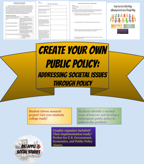 Create Your Own Public Policy: Addressing Societal Issues Through Policy