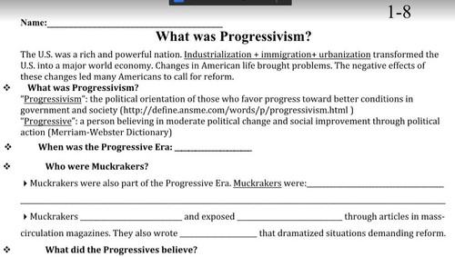 Defining Progressivism