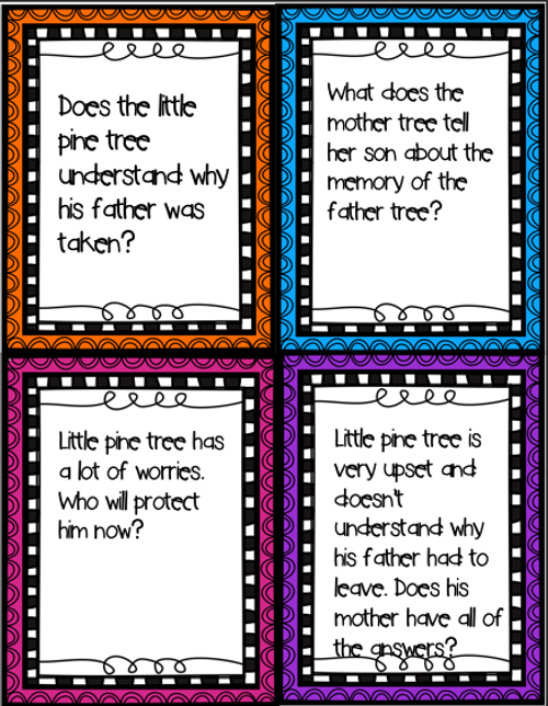 Grief Is Like a Snowflake Discussion Card Extension Activity. Story written by Julia cook