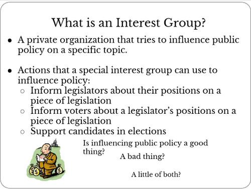 Interest Group Lesson  (PACS)