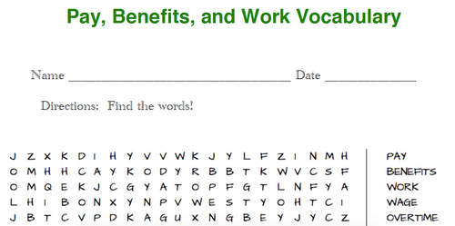 Financial Education Word Searches (7 total)