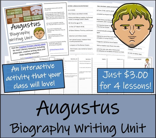 Augustus - 5th & 6th Grade Biography Writing Unit