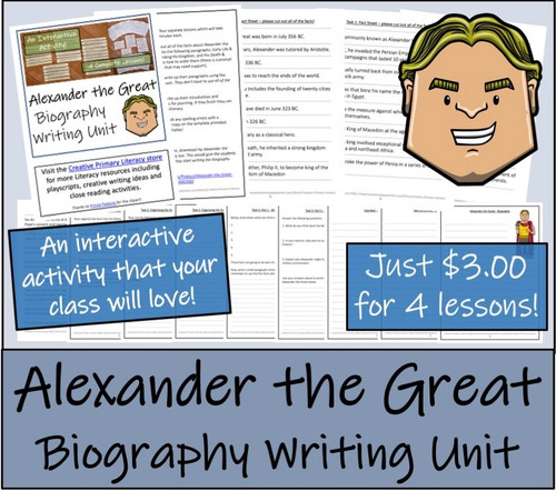 Alexander the Great - Biography Writing Unit
