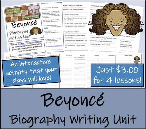 Beyonce - 5th & 6th Grade Biography Writing Activity