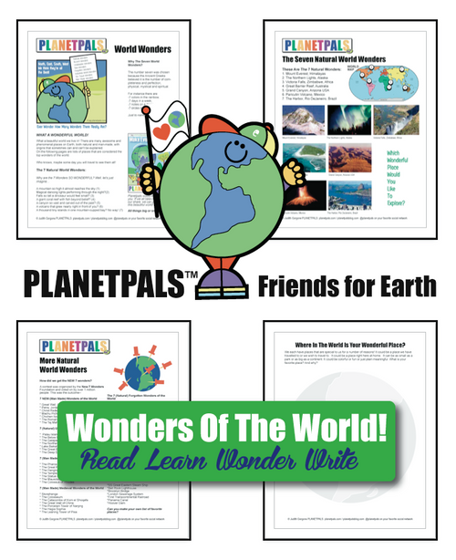 Planetpals World Wonders Lesson and Activities Geography History Fun Facts on Earth