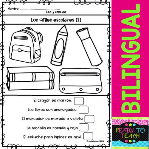 Read & Color - Leo y coloreo - Back to School