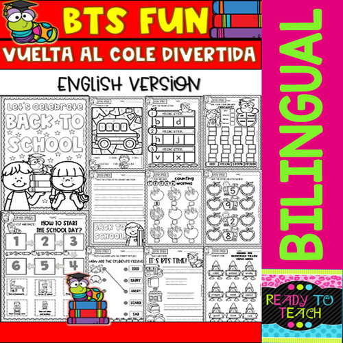 Back to School Fun - Vuelta al Cole Divertida - Printables - Set 1 - Bilingual