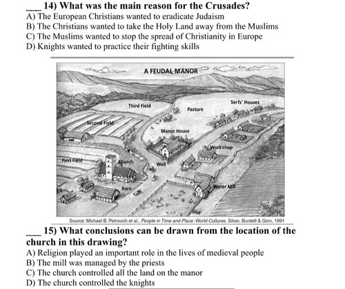 Middle Ages and Crusades Mini-Test
