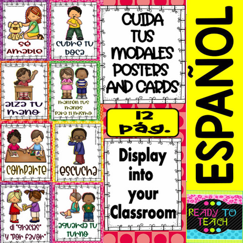 Cuida tus Modales (8 Posters and 8 Cards)