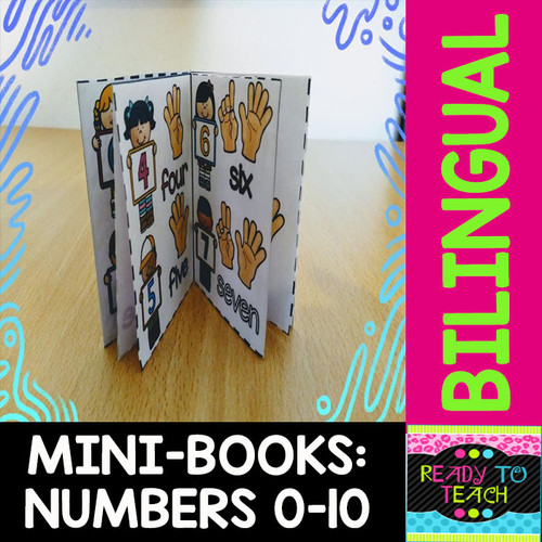 Mini-Book - Numbers 0-10 - Dual - Color and B&W Versions
