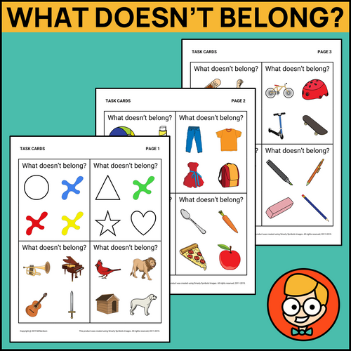 What Doesn't Belong Task Cards - Level 1