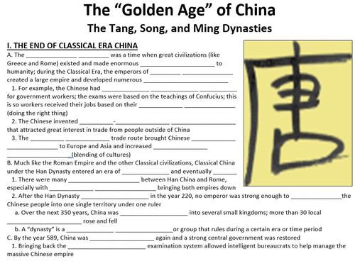Tang, Song, and Ming Dynasties of China