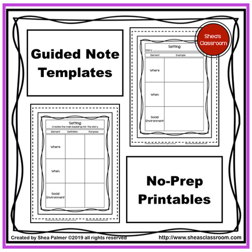 Setting Guided Notes Resource