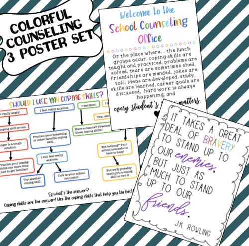 School Counseling Poster Set #1