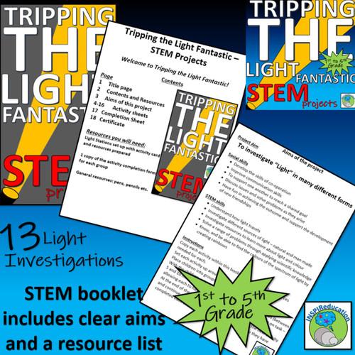 STEM/SCIENCE: Hands on investigations in sources of LIGHT
