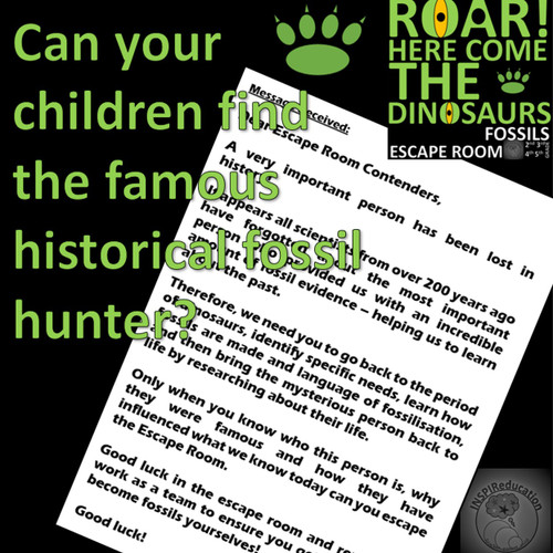 SCIENCE ESCAPE ROOM: Fossils, Mary Anning