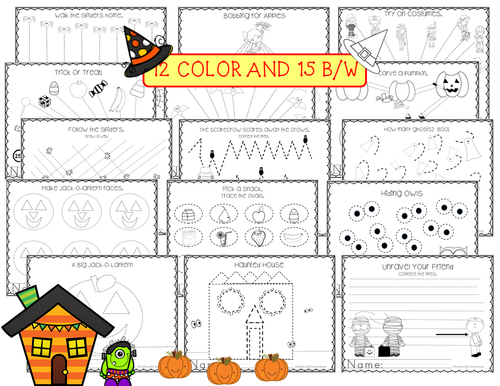 Halloween Pre-writing Lines and Shapes