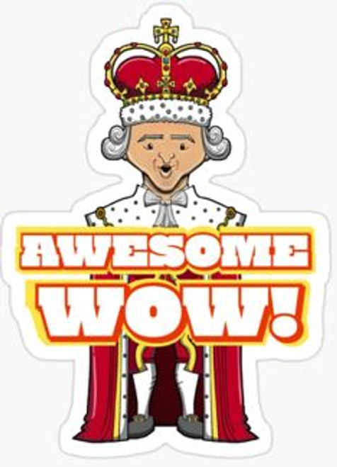 """Awesome Wow"" - King George III Sticker"
