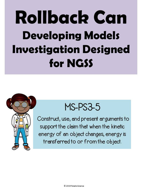 5e Explore Investigation for NGSS MS-PS3-5: Rollback Can