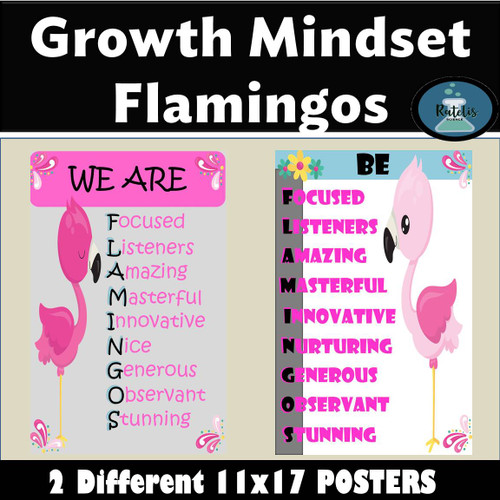 Flamingo Positive Adjectives Poster