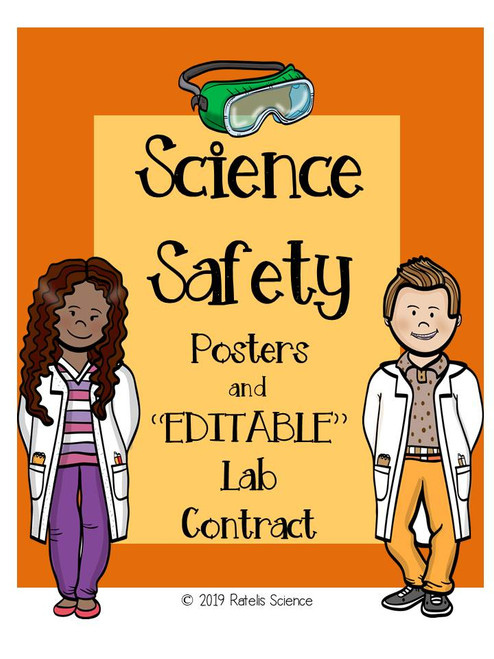 Science Lab Safety Posters With Editable Contract