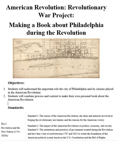 Making a Book about Philadelphia during the Revolution