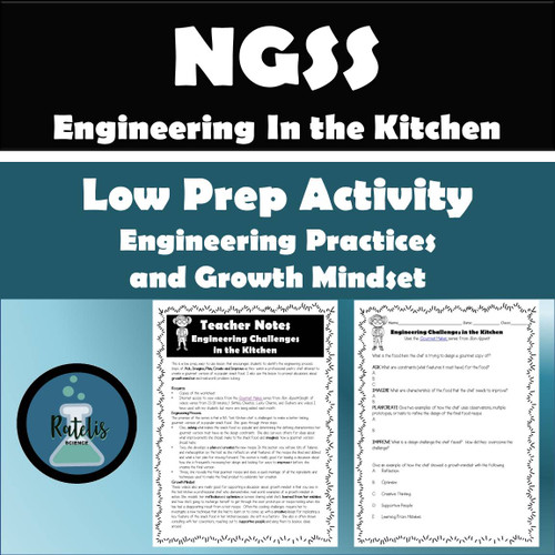 NGSS Engineering Practice (Growth Mindset in Science): Challenges in the Kitchen