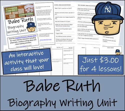 Babe Ruth - 5th & 6th Grade Biography Writing Activity