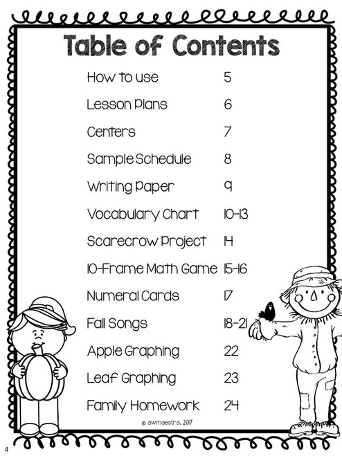 Fall Autumn Lesson Plans & Thematic Unit Pre-K, Spanish English bilingual