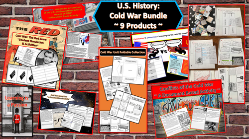 Cold War Bundle | 9 Complete Lessons on the Cold War | Distance Learning
