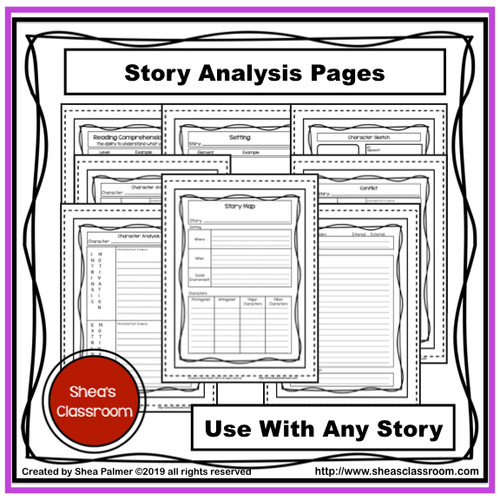 Story Elements Guided Notes Resource Bundle